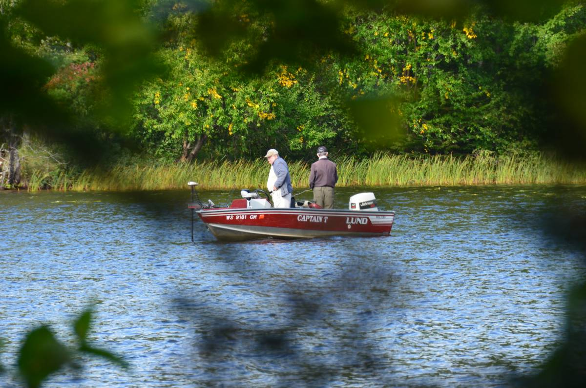 Fishing on Clam Lake